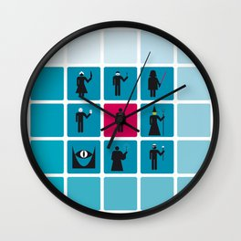 VILLAINS Wall Clock
