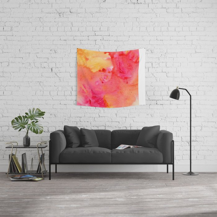 Peach flow Wall Tapestry