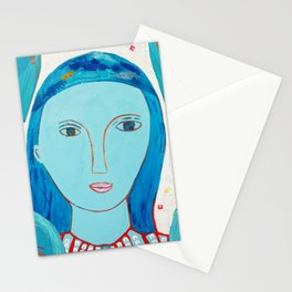 Recycle Queen Blue Stationery Cards