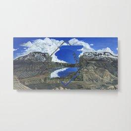 Grand Mesa Polyscape Metal Print