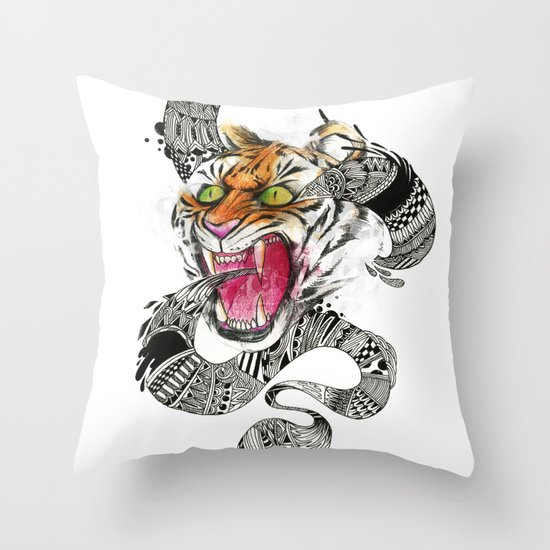 RAWR Throw Pillow