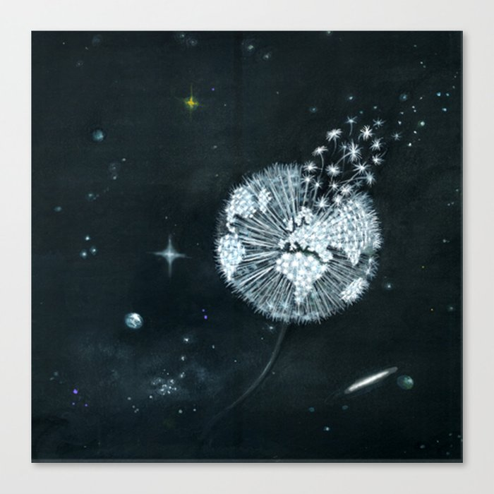 Blowing in Space Canvas Print