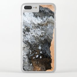 Marble & Copper 2 Clear iPhone Case