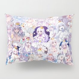 Booette Manga Anime Girls Collage in Colour Pillow Sham