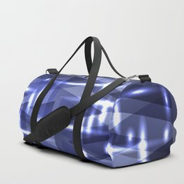 Lead frosty stripes and triangles of ice. Duffle Bag