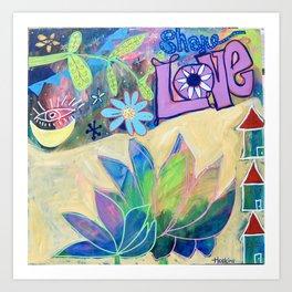 Share Love Art Print