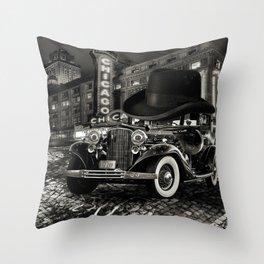 Don Cadillacchio Black and White Throw Pillow