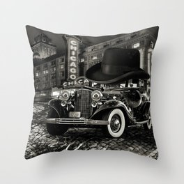 Don Cadillacchio Black and White Throw Pillow