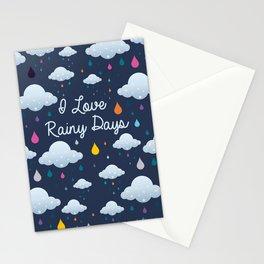 I love Rainy Days Stationery Cards