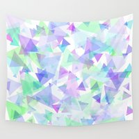 transparent Wall Tapestries featuring Abstract Transparent Triangles by Kamil Hajek