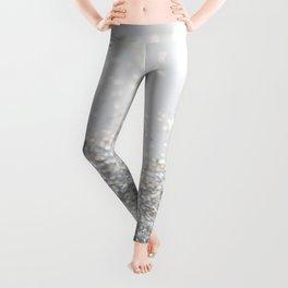 Silver Gray Glitter #3 #shiny #decor #art #society6 Leggings