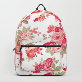 Elise shabby chic on white Backpack
