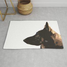 Portrait of a German Shepherd Rug