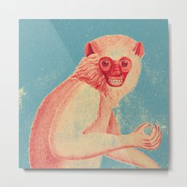 Red Monkey Metal Print