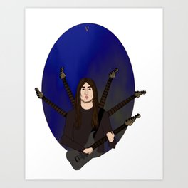 V of Swords - Varg Vikernes Art Print