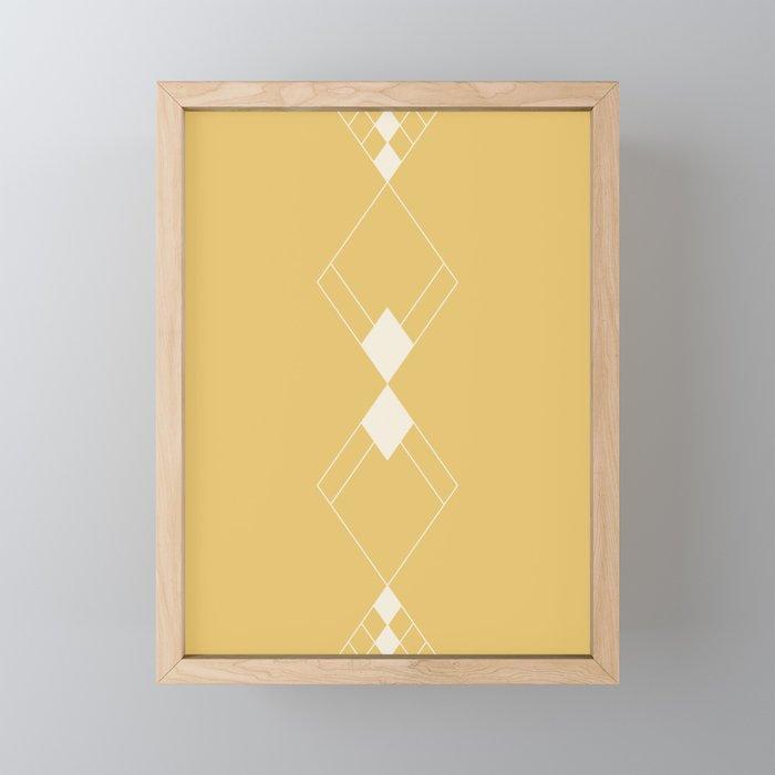 Minimal Geometry - Golden Yellow Framed Mini Art Print