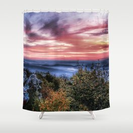 Stained Sunrise Shower Curtain
