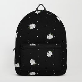 Gardenia pattern black Backpack