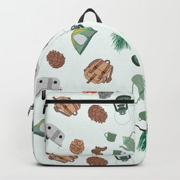 Rustic Campsite Illustration Backpack