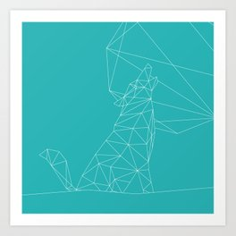 Poly-Wolf Art Print