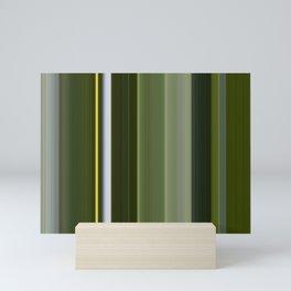 Stripes in Shades of Green Mini Art Print