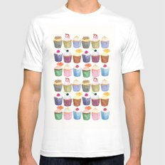 Cupcake Cluster Mens Fitted Tee MEDIUM White