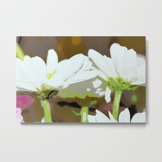 Flower | Flowers | White Summer Daisies | Floral Hippie Art | Metal Print