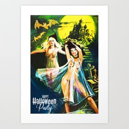 Halloween Party Vampire Art Print