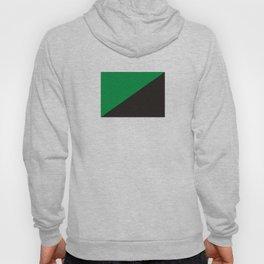 green anarchy flag ecology symbol Hoody
