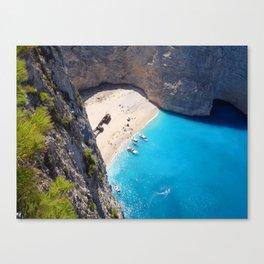 Hidden Beach & Shipwreck 2 Canvas Print