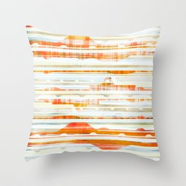Huts Throw Pillow
