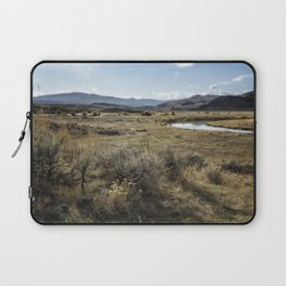 Waiting for Wolves in Lamar Valley - Yellowstone Laptop Sleeve