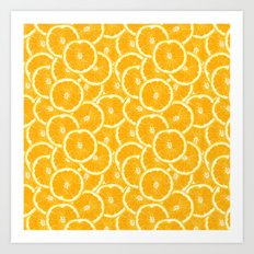 Oranges are the new black Art Print