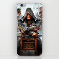assassins creed iPhone & iPod Skins featuring Assassins Creed by Tom Lee