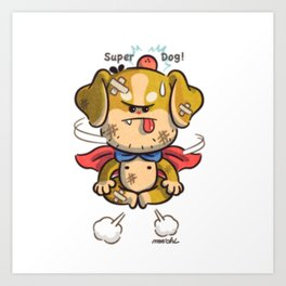 super-dog Art Print
