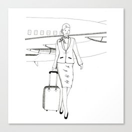 Flight attendant Canvas Print