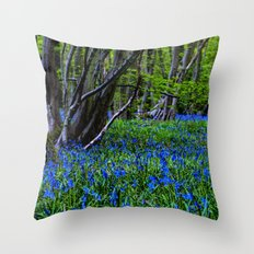 BLUE GLADE Throw Pillow