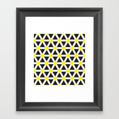 Geometric Pattern #176 (white yellow) Framed Art Print