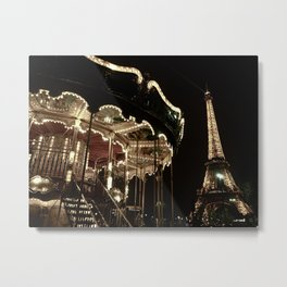 Paris by night Metal Print
