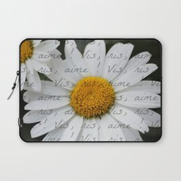 """Live, Laugh, Love"" in French Laptop Sleeve"