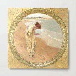 The sea hath its pearls - William Margetson Metal Print