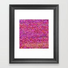 Purple Glitter Framed Art Print