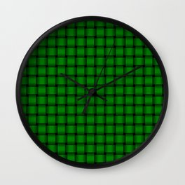 Small Green Weave Wall Clock