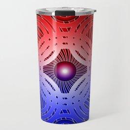 Red & Blue Circles Pattern Travel Mug