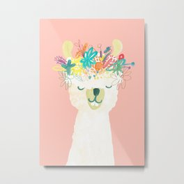 Llama Goddess Metal Print