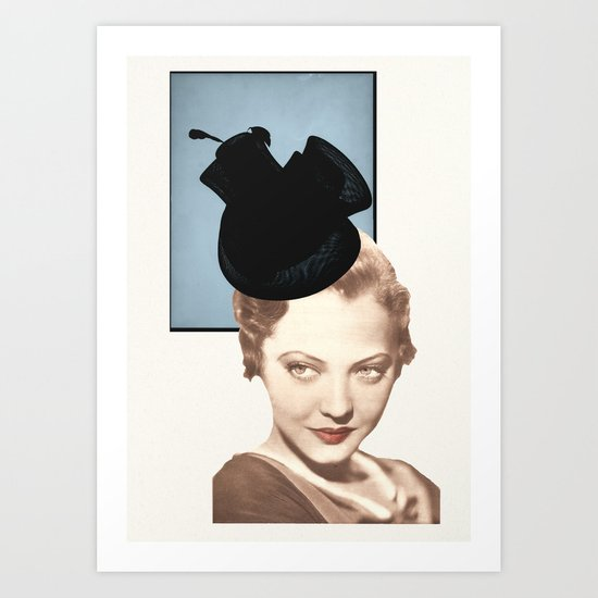 Hat Lady Art Print