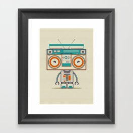 Music robot Framed Art Print