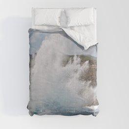 Coral Rock Meets Crashing Waves #2 #ocean #wall #decor #art #society6 Comforters