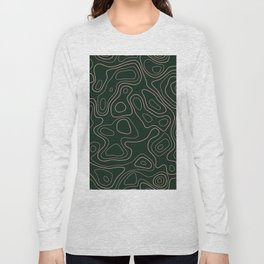 Green- Topographic map Long Sleeve T-shirt