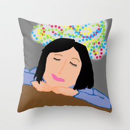 Dreaming Away the Gray Throw Pillow